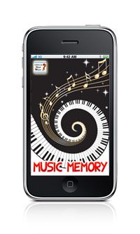 Virtual Sheet Music Music Memory Game iPhone iPod Touch application