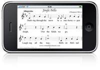 Virtual Sheet Music Christmas Carols iPhone iPod Touch application