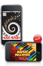 Discover Virtual Sheet Music's new musical games for iPhone and iPod Touch!
