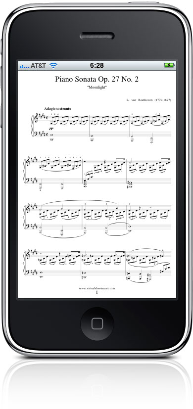 Moonlight Sonata score