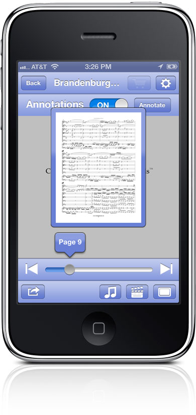 Optimized Sheet Music Navigator
