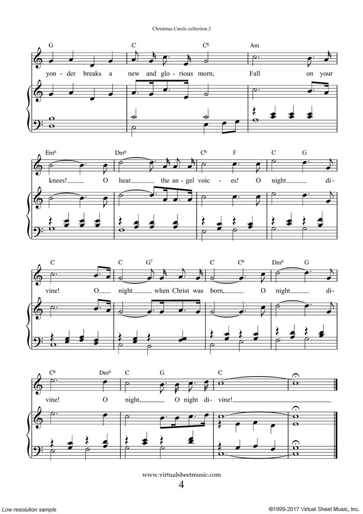 o holy night sheet music pdf free